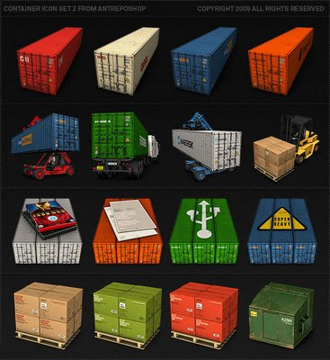Shipping container icons