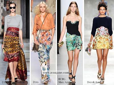 2010 yaz desenli kumas moda trend 2