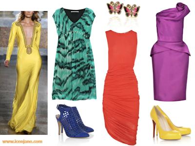 canli renkli abiye elbise 4