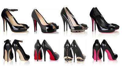 siyah stiletto modelleri