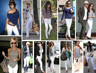 2009 en moda beyaz jean
