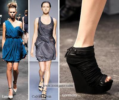 2010 yaz moda drape elbise 1