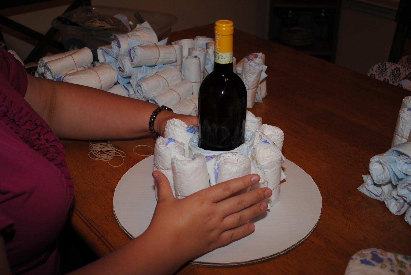 wine bottle cake instructions