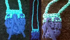 Bolso pequeño en cordon lycra hecho a mano
