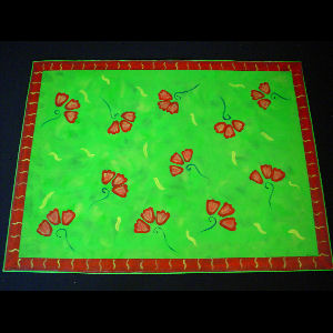Red Poppies on Green - Sold