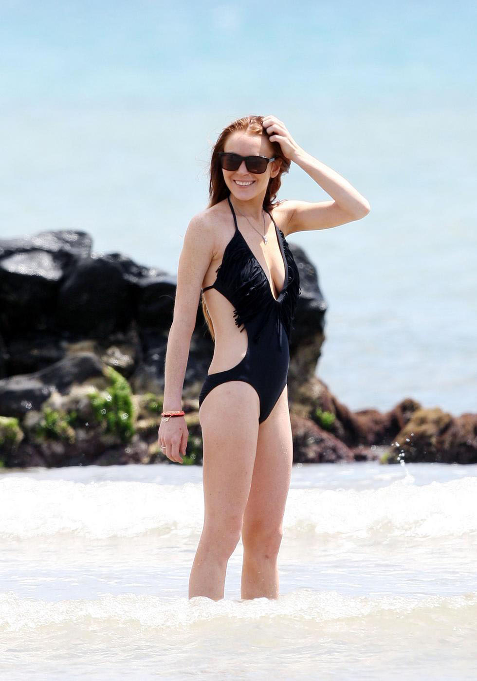 ... model. Now you are looking Lindsay Lohan pictures in black bikini