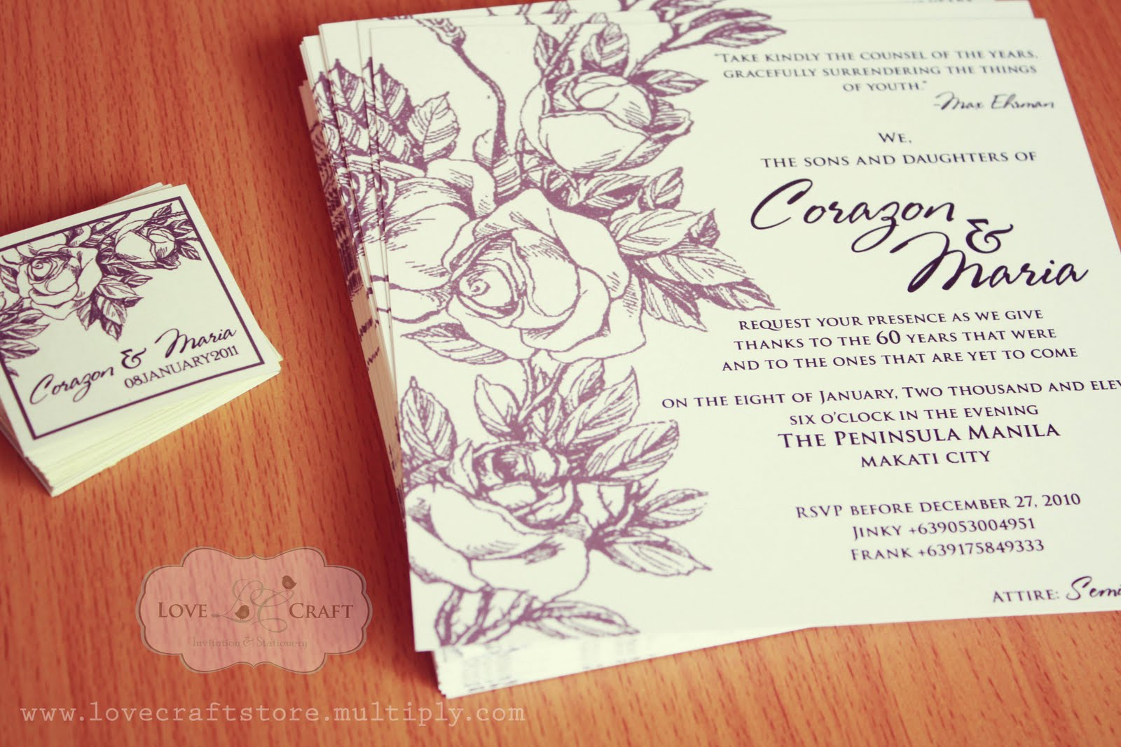 Love Talks: Hand drawn roses for a vintage style birthday invite