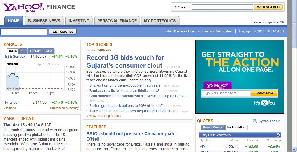 Yahoo Finance | downoad