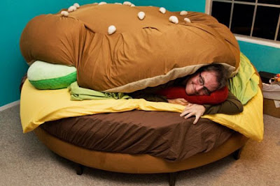 funny bed, burger bed