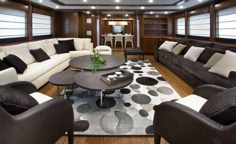 Modern Luxury Yacht Interiors & Designs - Interior of Modern Yacht ...