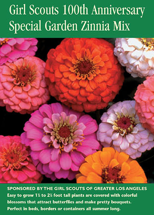 Girl Scouts Anniversary Zinnia Seed Pack