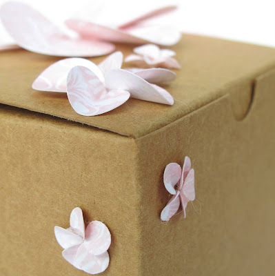 gift & favor boxes with pretty paper flowers