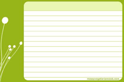Modern Recipe Cards Recipe Card Templates
