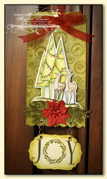 Today I 39m sharing this Christmas tag designed with stamps from Prickley