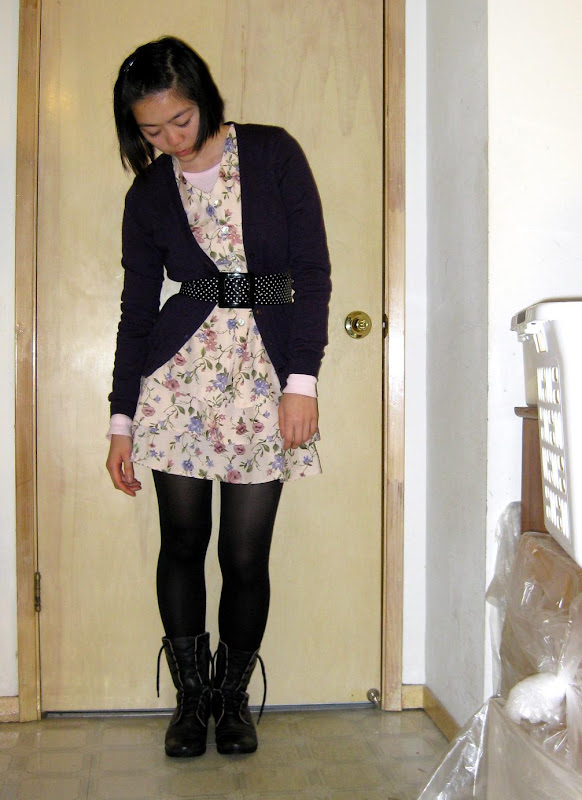 ubiquitous floral dress and serious boots combo, overhyped