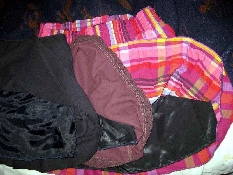 operation: salvage wardrobe, lined skirts