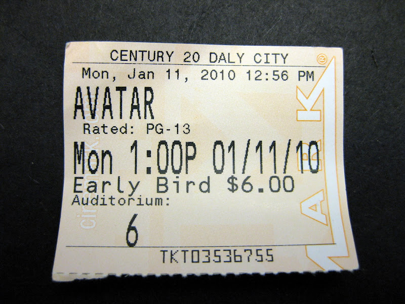 avatar ticket stub