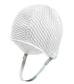 retro swim cap with chin strap, ClubSwim