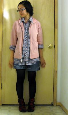 plaid outfit blowfish shoes