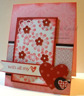 stampin up with all my heart card