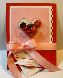 stampin up, sweet heart treat cups
