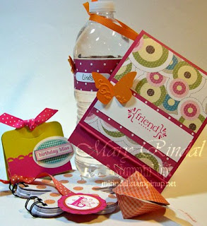 stampin up, stampin addicts, blog hop, birthday party, birthday favors