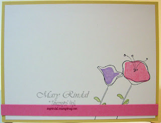 stampin up, awash with flowers