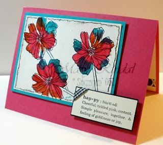 stampin up card, bleach technique