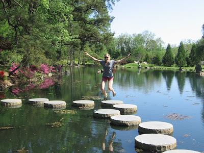 Across america jumping across maymont park richmond virginia