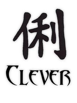 Kanji Clever Tattoo Symbols