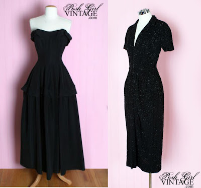 1930 1940fashion on 1940 S Ceil Chapman Long Black Dress 1940 S I Magnin Black Beaded