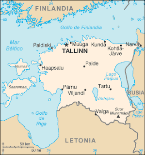 Creative commons. Mapa de Estonia de CIA Factbook