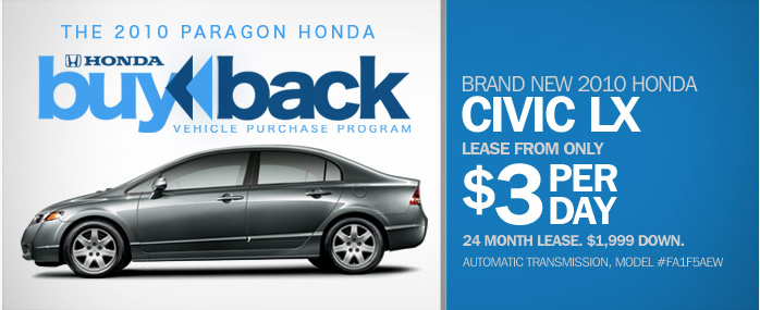 Paragon Honda Buy Back Program
