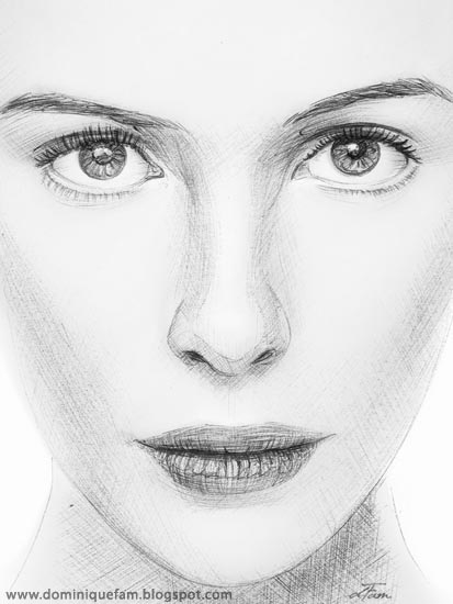 drawings of people faces