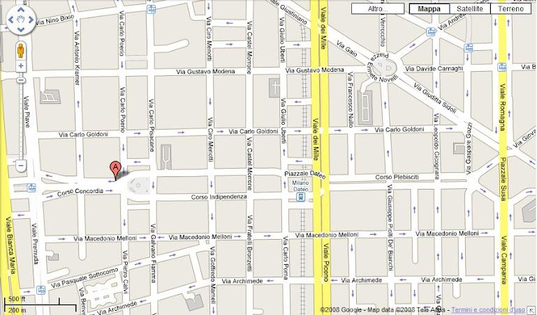Vieni a trovarci in Corso Concordia 9 e 11