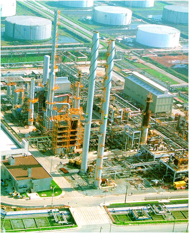 Planta petroquímica com Áreas Classificada contendo atmosferas explosivas em uma Refinaria.