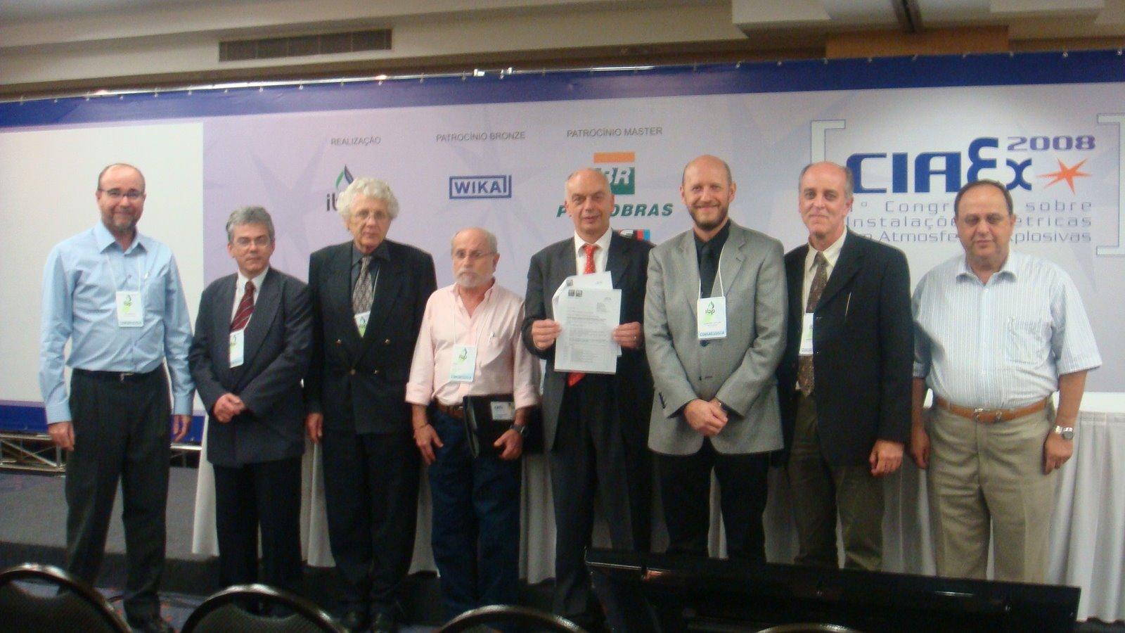 Inscrição do Brasil, através do COBEI - Brazilian National Committee, no IECEx System - 18/11/2008.