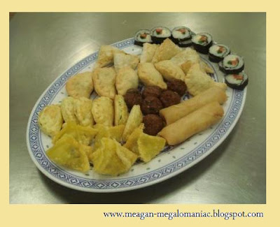 ... Smoked Salmon Puffs, Curry Puffs, Spring Rolls, Grilled Meat Balls