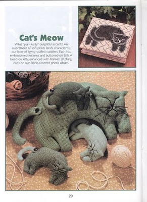 boneca do pano gato