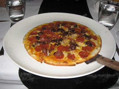 Salami Napoli pizza at Stone Water Grill