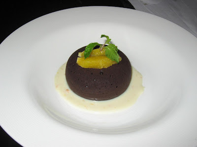 Warm Chocolate Fondant at Stone Water Grill