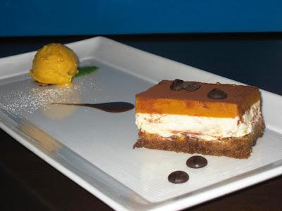 Lucuma Tiramisu with Lucuma ice cream at La Mar
