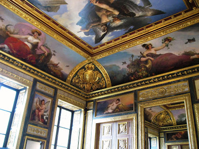 Opulent chambers of Napolean III at the Louvre