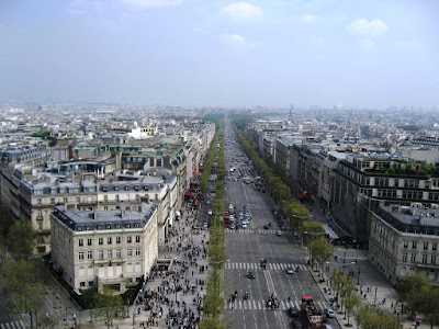View from the top of Arc de Troimph
