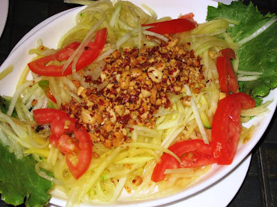 Raw Papaya Salad at Malaka Spice