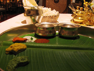 Papadums and Chutney at Dakshin