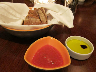 Bread and dips at Prego Pune