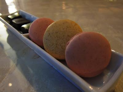 Fresh macarons in Adour, DC