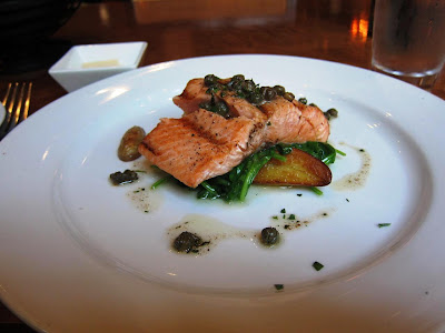 Grilled Salmon at Chez Papa Resto