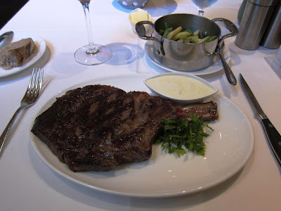 16 oz bone-in ribeye at Lark Creek Steak